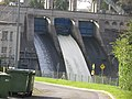 Sluice Gates at Hydroelectric Dam, Leixlip.jpg