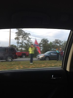 Christiansburg High School - Smaller Confederate Flag Protest at Christiansburg High School. On Thursday, September 24, 2015 at around 7:30 AM