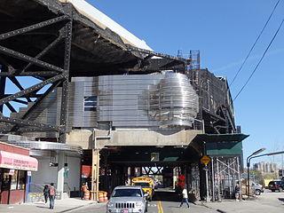 New York City Subway station in Brooklyn