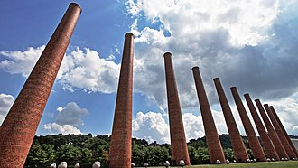 The Waterfront - The open hearth stacks from US Steel's Homestead Works, left to pay homage to the complex's former use as a steel mill