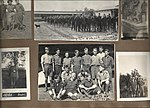 "Snapshots of men and aircraft at Camp Mohawk, one of the Royal Flying Corps' pilot training camps near Deseronto, Ontario. Includes one showing ""8 A.M. Parade, Camp Mohawk"" and a group photograph of (6079346071).jpg"