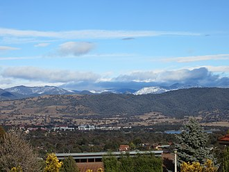 Skiing in the Australian Capital Territory - Snow on the Brindabella Ranges, August 2012.