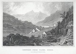 Snowdon, From Capel Curig Caernarvonshire