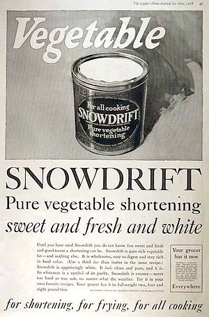 Shortening - A 1918 advertisement for shortening