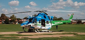 Air medical services - Snowy Hydro SouthCare Bell 412 helicopter in Australia