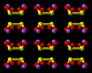 Sodium dithionite - Image: Sodium dithionite xtal 1992 3D balls