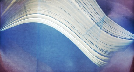 A solargraph taken from the Atacama Pathfinder Experiment at the Llano de Chajnantor Observatory in the southern hemisphere. This is a long-exposure photograph, with the image exposed for six months in a direction facing east of north, from mid-December 2009 until the southern winter solstice in June 2010. The Sun's path each day can be seen from right to left in this image across the sky; the path of the following day runs slightly lower, until the day of the winter solstice, whose path is the lowest one in the image. Solargraph APEX.tif