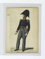 Soldier in uniform - Blue jacket with gold epaulettes and orange trim, grey pants (NYPL b14896507-85537).tiff