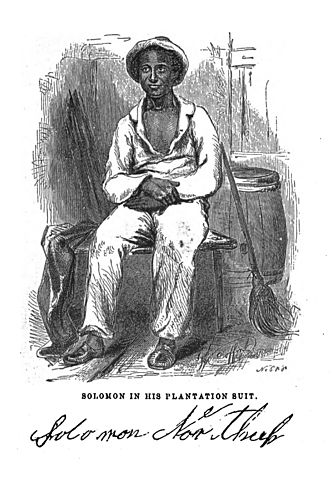 Sketch of Solomon Northup, 1855