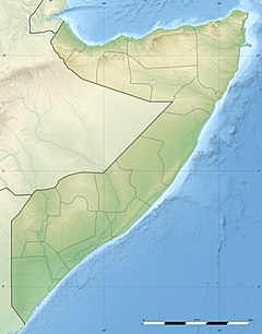 A map showing Mogadishu Airport and Balad, Somalia