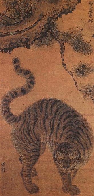 Tigers in Korean culture - Image: Songhamaenghodo