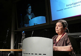 Humanists International - Previous IHEU President Sonja Eggerickx.