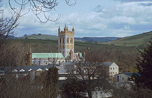 English: Buckfast Abbey near the village of Bu...