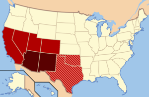 Southwestern Usa Map.Southwestern United States Wikipedia