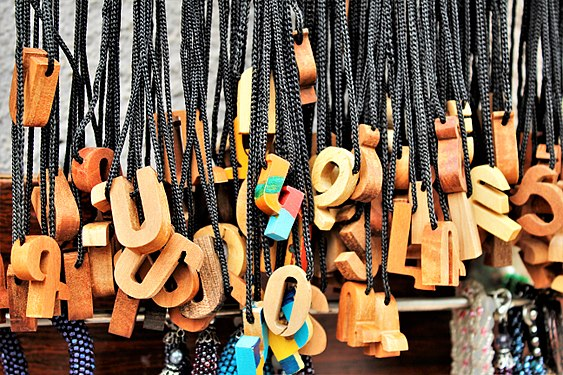Souvenir necklaces with Armenian letters (1).jpg