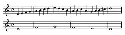 Un esempio di contrappunto di terza specie (play MIDI[?·info])