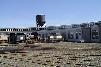 Southern Railway's Spencer Shops - Spencer Shops turntable service facility