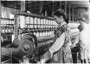 Cherryville, North Carolina - Young spinners at Vivian Cotton Mills in Cherryville. Photo by Lewis Hine, 1908.