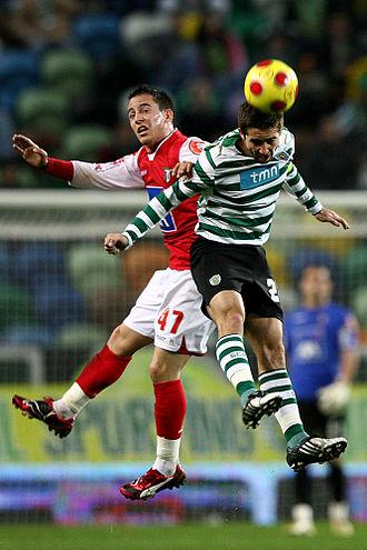 João Moutinho - Moutinho (right) battling João Pereira in 2009