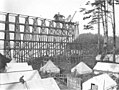 Spruce Division camp 7R and railroad trestle under construction beside ocean beach, ca 1918 (KINSEY 759).jpeg