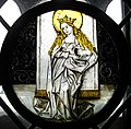 St. Agnes, Swabia, ca. 1490, stained glass (5469094213).jpg
