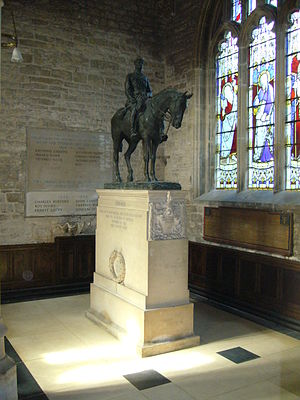 St Andrew's Church, Mells - The memorial to Edward Horner