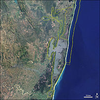 Satellite image of w:Greater St. Lucia Wetland...