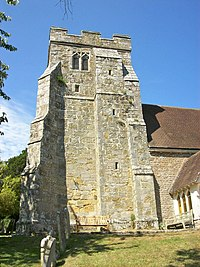 St George, Crowhurst, Sussex, the tower.JPG