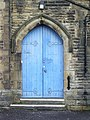 St John's Church, Clayton-le-Moors, Doorway - geograph.org.uk - 769005.jpg