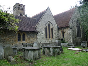 Daniel Cornelius de Beaufort - St Mary the Virgin, East Barnet from the rear.