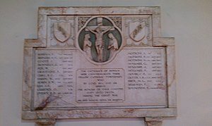 St Pancras Church, Ipswich - Memorial to the Catholics of Ipswich who died in the First World War