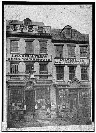 Stabler-Leadbeater Apothecary Shop - Shop in 1907.