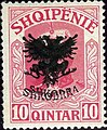 Stamp of Albania - 1920 - Colnect 681162 - Unissued portrait of Prince zu Wied overprinted in black.jpeg