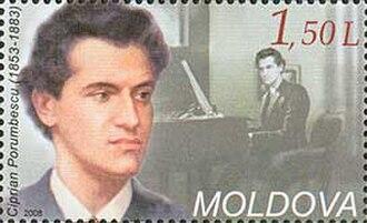 Ciprian Porumbescu - Ciprian Porumbescu on a Moldavian stamp