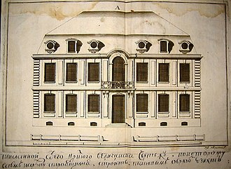 1716 in architecture - Le Blond's standard design for Saint Peterburg buildings, 1716