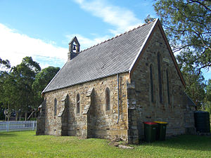Seaham, New South Wales - St. Andrews Anglican Church, dedicated 1860