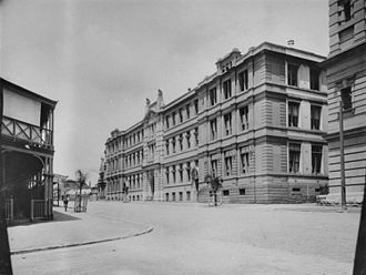 Queensland Government Printing Office - Image: State Lib Qld 1 114576 View of the Government Printing Office in George Street, Brisbane, 1920