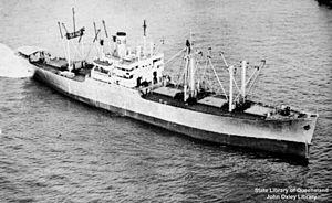 USS Prentiss (AKA-102) - The ship as Alcoa Ranger