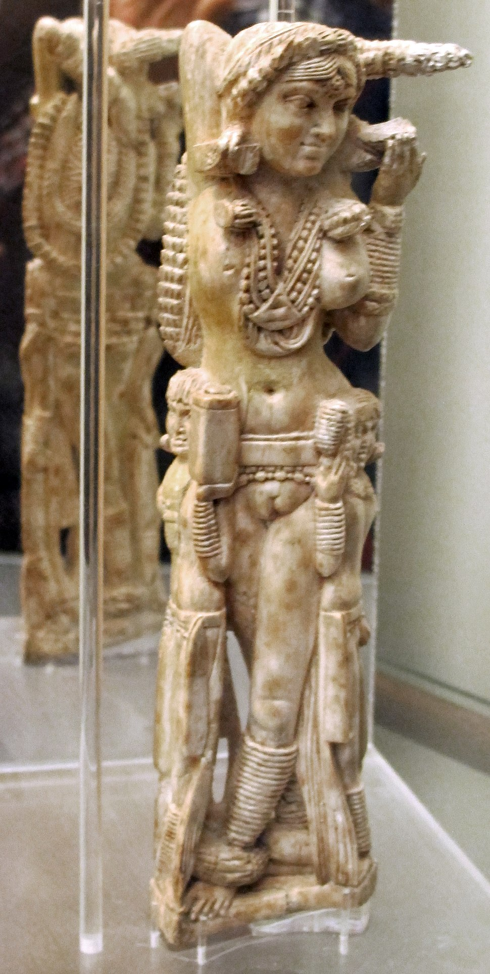 Statuetta indiana di Lakshmi, avorio, da pompei, 1-50 dc ca., 149425, 02