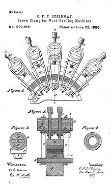 Steinway sons wikipedia blueprint for steinways patent no 229198 a tool for bending wood malvernweather Choice Image