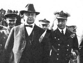 William Stephens - Governor Stephens walking with Edward, Prince of Wales in San Diego in 1920.