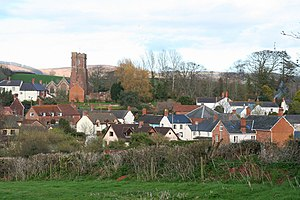 Stogumber - Image: Stogumber the village from the west geograph.org.uk 152336