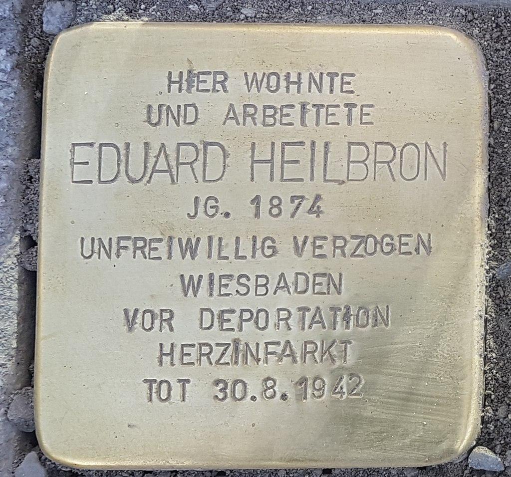 Stolperstein Aalen Eduard Heilbron Bahnhofstraße 18.jpg