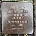Stolperstein Bocholt Hemdener Weg 11 Meta Weiss.jpg