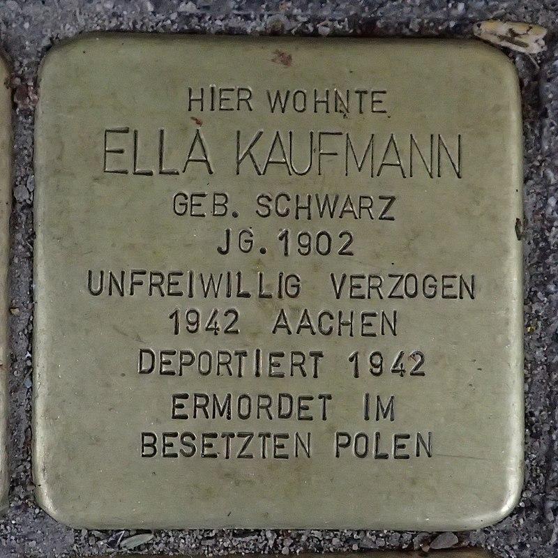 Stolperstein für Ella Kaufmann geb. Schwarz