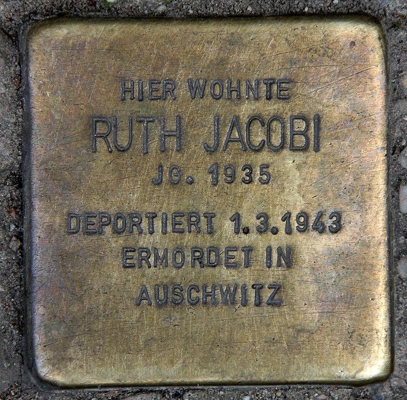 Stolperstein Marienburger Str 48 (Prenz) Ruth Jacobi.jpg