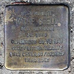 Photo of Käthe Grell brass plaque