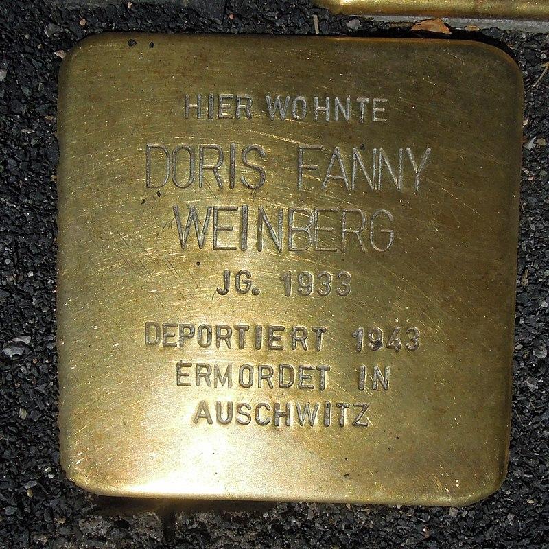Stolperstein Olsberg Bigge Hauptstraße 33 Doris Fanny Weinberg.JPG