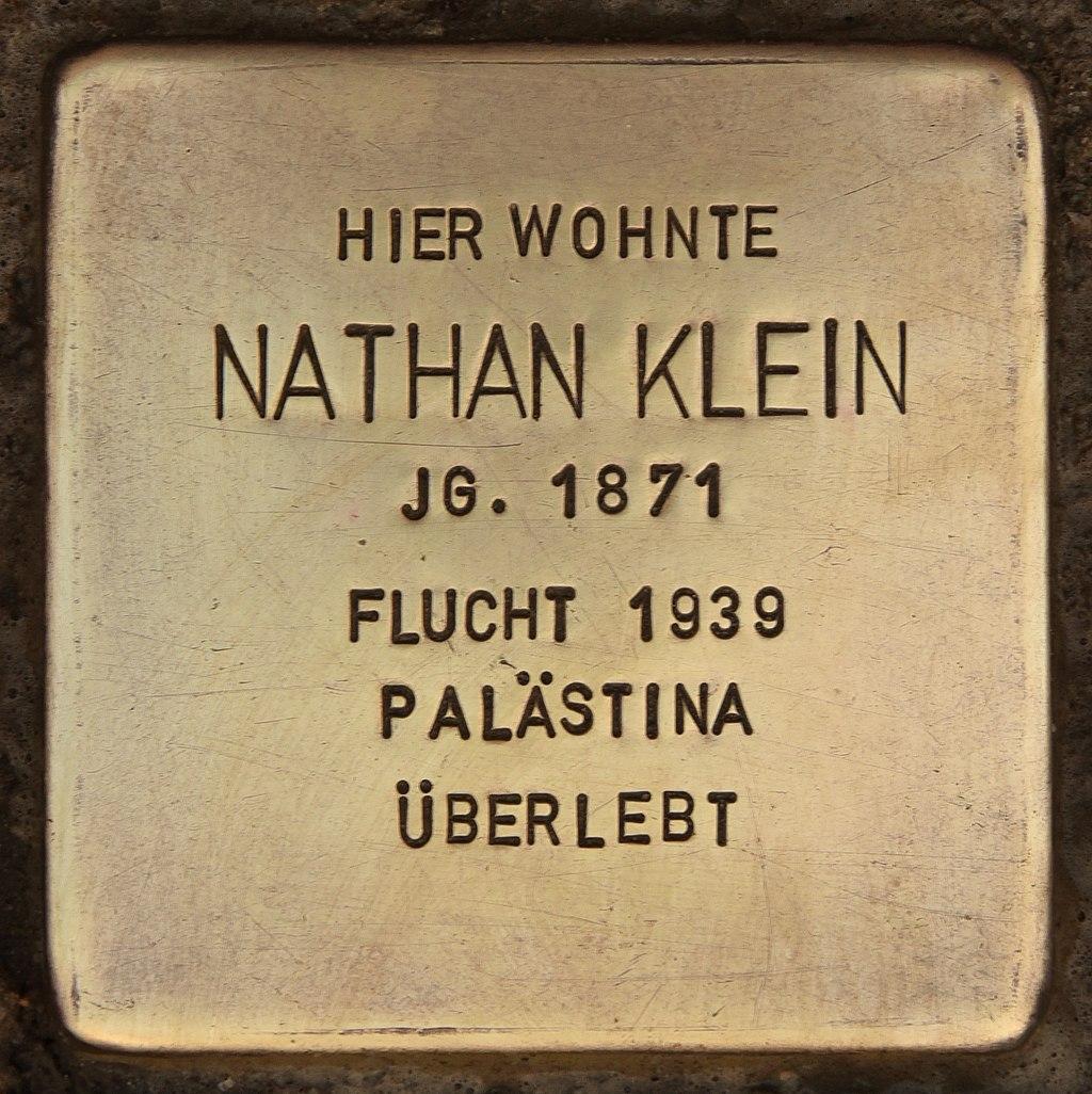 Stolperstein für Nathan Klein (Senftenberg).jpg