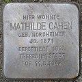 Stolpersteine Köln, Mathilde Cahen (Theodor-Heuss-Ring 50).jpg